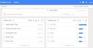 استفاده ازگوگل ترندز (Google Trends)