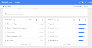 استفاده از گوگل ترندز (Google Trends)